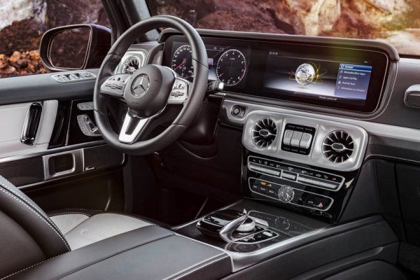 Mercedes G550 G-Wagon 2019 steering wheel area