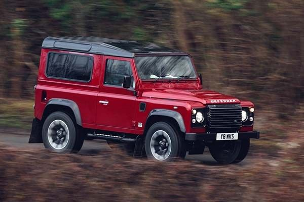 Land Rover Defender 2018 on the road