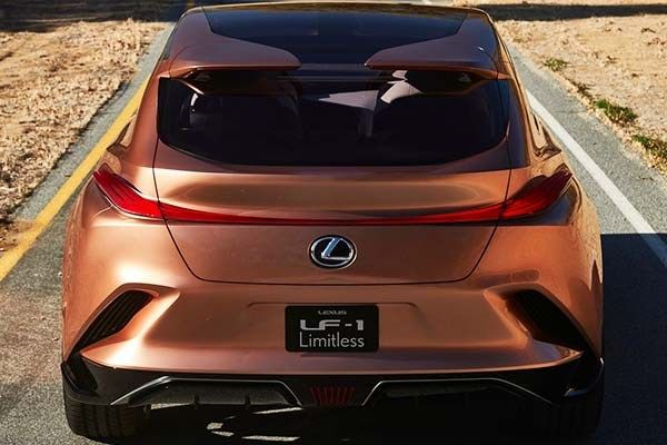 Rear view of the Lexus LF-1 Limitless 2018