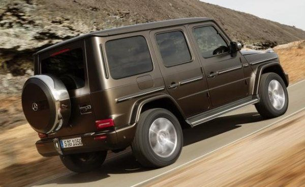 Mercedes G550 G-Wagon 2019 on the road