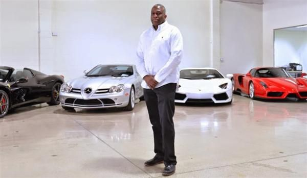 a salesman and cars