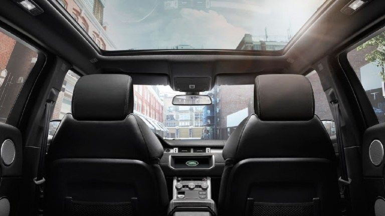 the interior of Land Rover Vogue