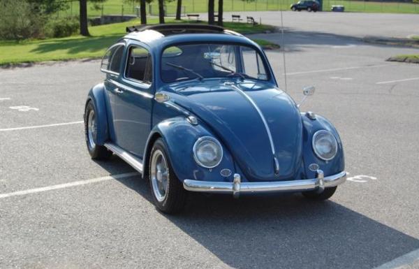 Angular front of a Volkswagen Beetle