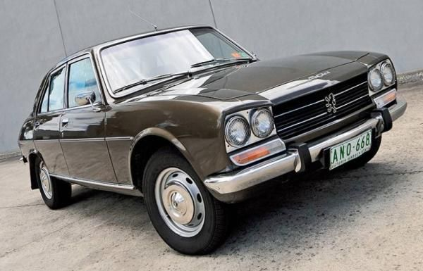 Angular front of a Peugeot 504