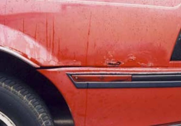 rust in a car
