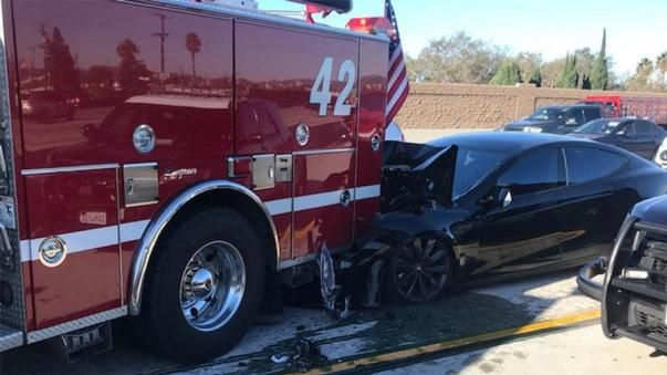 A Tesla Model S was on autopilot when it crashed into a fire truck