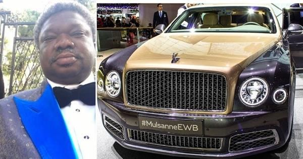 Olu Okeowo and his Bentley Mulsaine