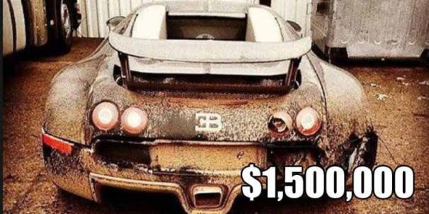 the abandoned Bugatti Veyron
