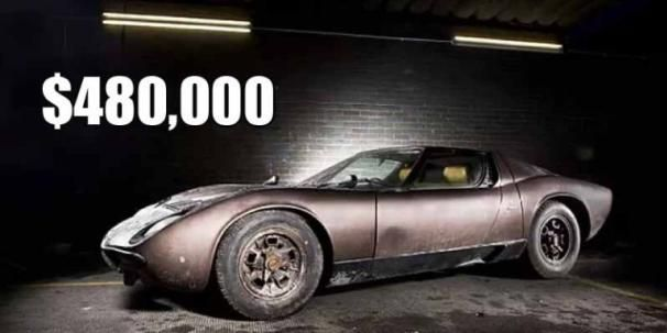 the abandoned Lamborghini Miura