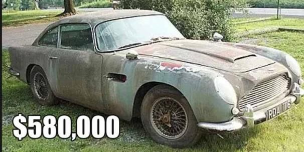 the abandoned Aston Martin DB5