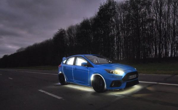 A blue Buzz Car