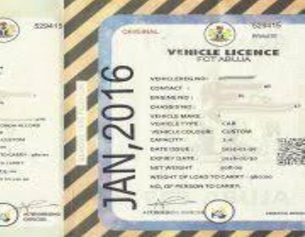 Vehicle license