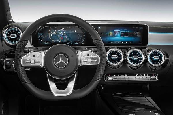 An all-new multimedia system dubbed MBUX (Mercedes-Benz User Experience)