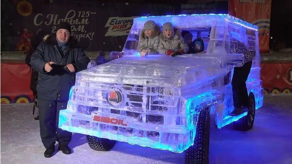 Barashenko and his icy Mercedes-Benz G-Wagen