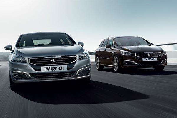 Peugeot 508 on the road
