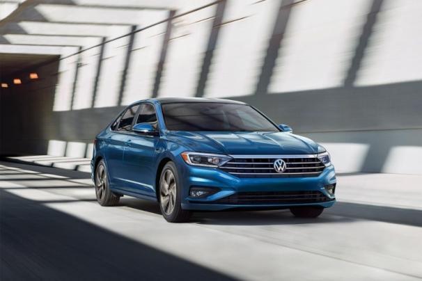 Volkswagen Jetta 2019 on the road