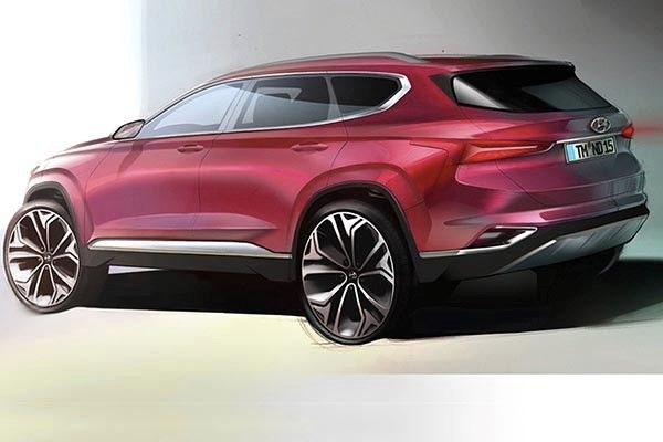 The Hyundai Santa Fe 2019 sketch