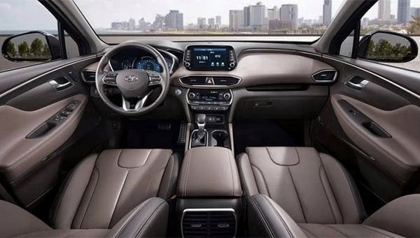 The Hyundai Santa Fe 2019 interior