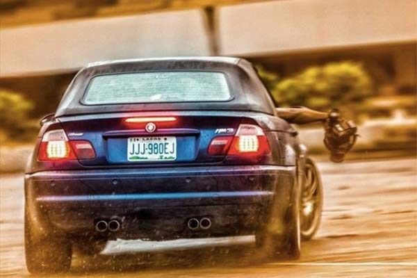 BMW rear view