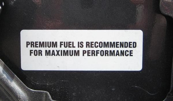 premium fuel recommendation