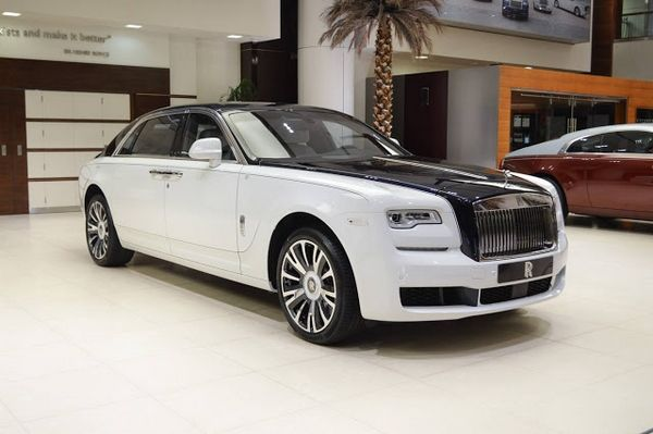 Rolls-Royce Ghost EWB 'Inspired by Private Jet' angular front