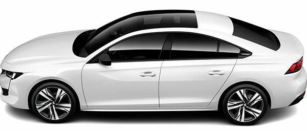 the side view of Peugeot 508 2019