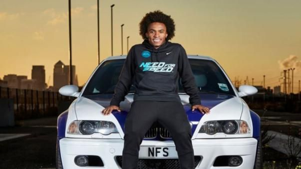 Victor Moses and his car