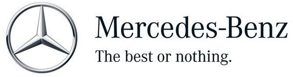 Mercedes-Benz logo and slogan