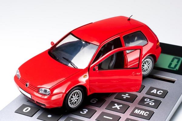 a car and a calculator