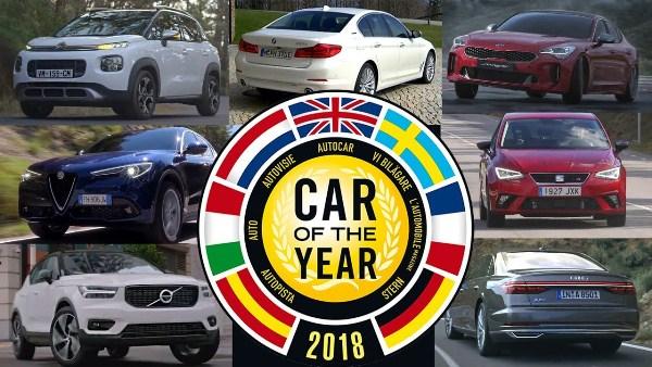 2018 European Car of the Year shortlist