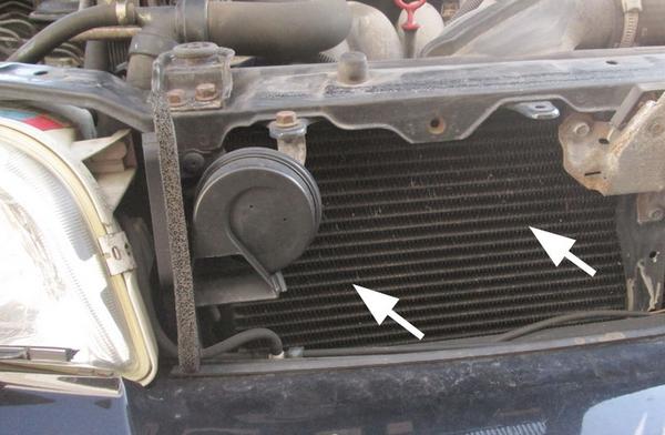 faulty car A/C condenser