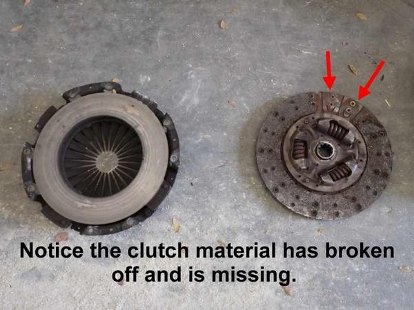 broken car clutch