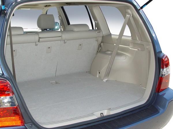 Toyota Highlander 2005 cargo space