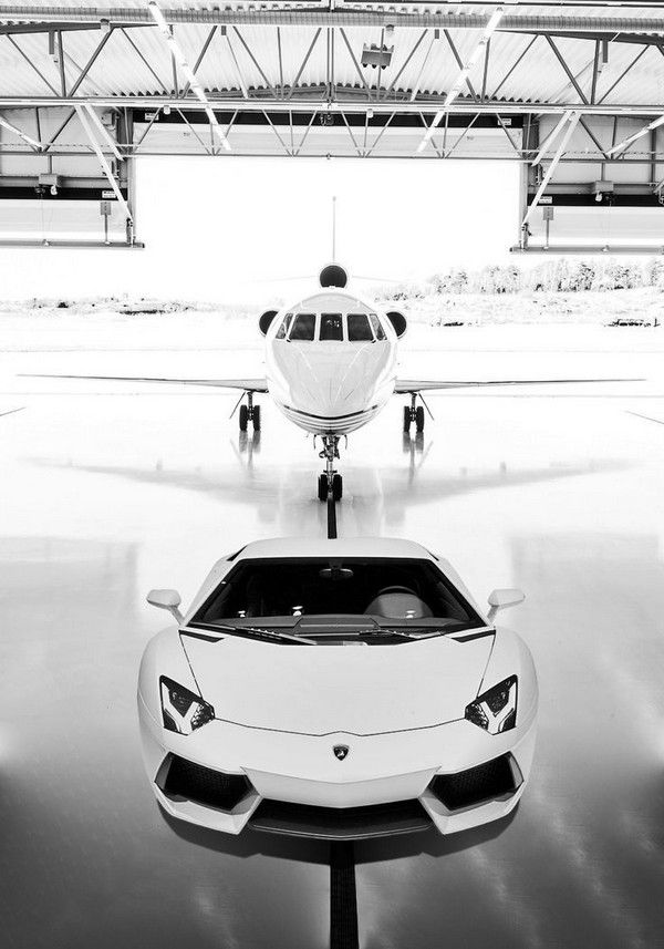 jet and car