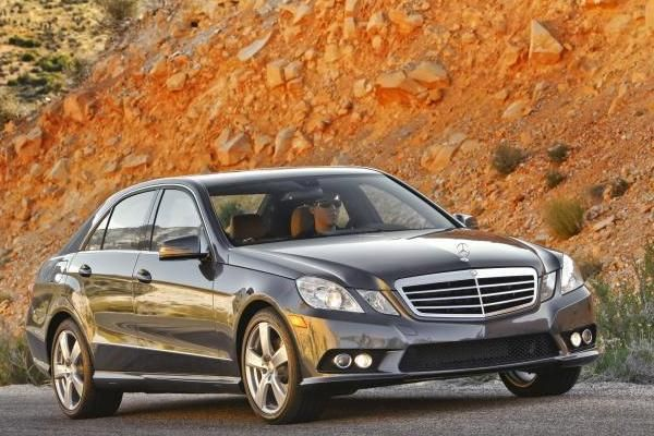 2010 Mercedes-Benz E350 4matic on the road