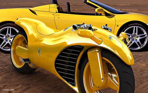 Amir Glinik's Ferrari motorycle