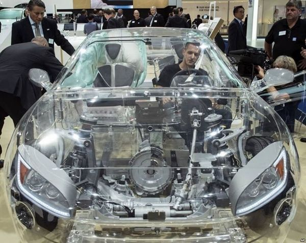 the world's first transparent car