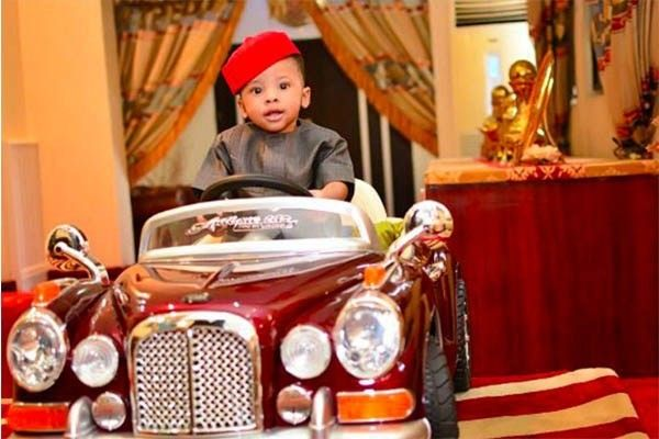 Femi-Fanikyodec's son, Aragorn Fani-Kayode is driving his luxury automobile