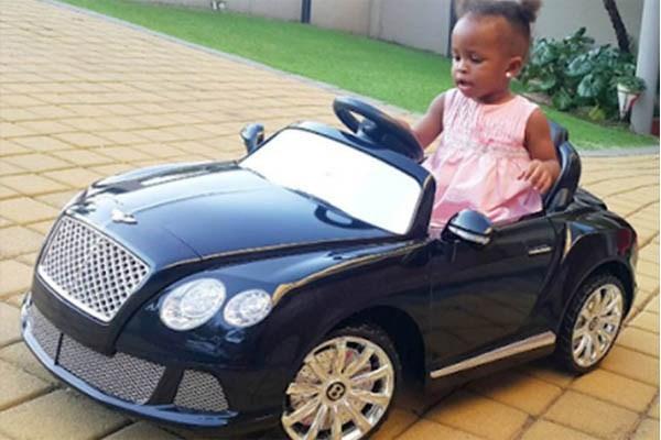 Tanzania music star Diamond Platnumz's daughter, Latifah Dangote is cruising in her little Bentley Continental GT sports convertible