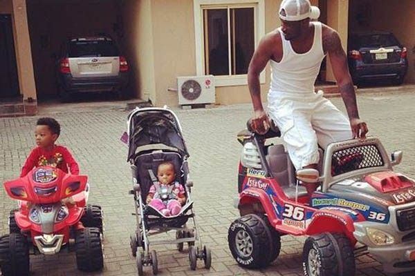"Aliona Okoye and Cameron are in their ""costly vehicles"" with their well-known father, Mr. P"