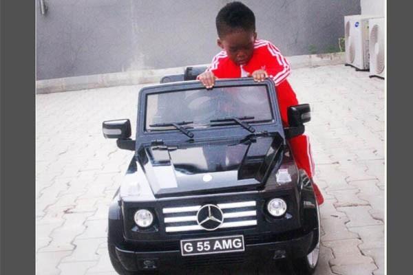 The boy of songstress Tiwa Savage, Jamil Balogun gets swag with his G-Wagon.
