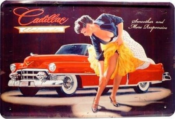 Cadillac Eldorado and a girl