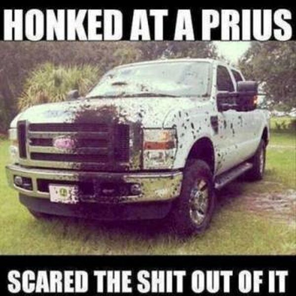 Honked at a Prius car meme