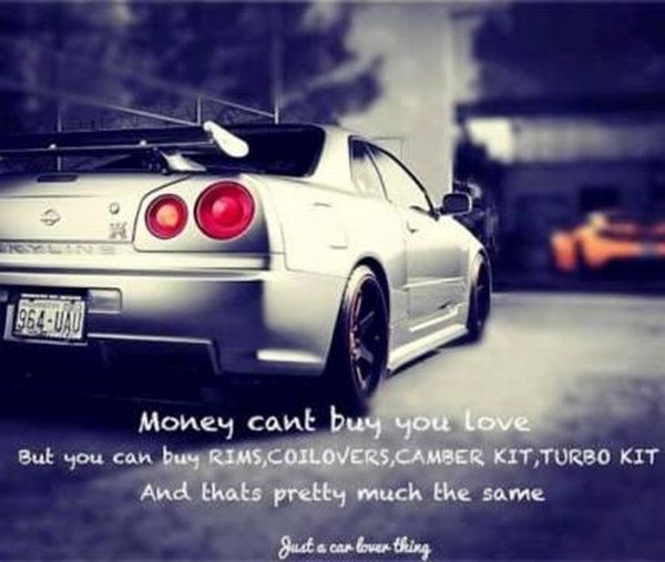 Money can't buy you love car meme