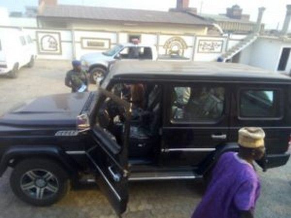 Oluwo of Iwoland and his newly bought Innoson IVM G80
