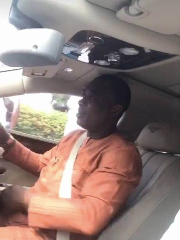 King Wasiu Ayinde Olasunkanmi Marshal drives his Bentley Flying Spur