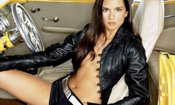 Danica Patrick, an American professional car racer