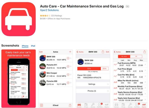 AutoCare app