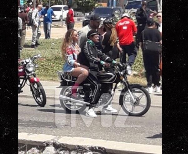 Jay-Z and Beyonce were riding around Kingston, Jamaica on an Okada
