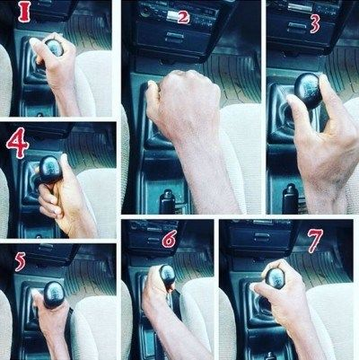 Seven ways of holding a gear selector